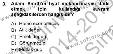 Dış Ticaret Bölümü 2. Yarıyıl Uluslararası Ticaret Dersi 2015 Yılı Bahar Dönemi Ara Sınavı 3. Soru