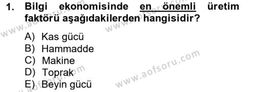 Elektronik Ticaret Dersi 2012 - 2013 Yılı Ara Sınavı 1. Soru