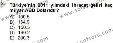 Dış Ticaret Bölümü 3. Yarıyıl Kambiyo Mevzuatı Dersi 2013 Yılı Güz Dönemi Dönem Sonu Sınavı 3. Soru