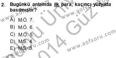 Dış Ticaret Bölümü 3. Yarıyıl Kambiyo Mevzuatı Dersi 2014 Yılı Güz Dönemi Ara Sınavı 2. Soru