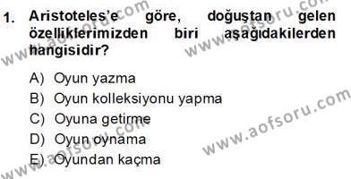 Türk Tiyatrosu Dersi 2013 - 2014 Yılı (Final) Dönem Sonu Sınav Soruları 1. Soru