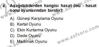 Türk Tiyatrosu Dersi 2013 - 2014 Yılı (Final) Dönem Sonu Sınav Soruları 4. Soru