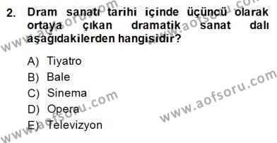 Türk Tiyatrosu Dersi 2014 - 2015 Yılı (Final) Dönem Sonu Sınav Soruları 2. Soru
