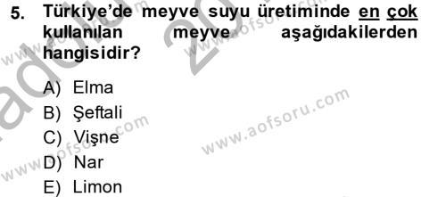 Tarım Bölümü 2. Yarıyıl Bahçe Tarımı I Dersi 2014 Yılı Bahar Dönemi Ara Sınavı 5. Soru