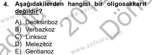Tarım Bölümü 4. Yarıyıl Hayvan Besleme Dersi 2013 Yılı Bahar Dönemi Dönem Sonu Sınavı 4. Soru
