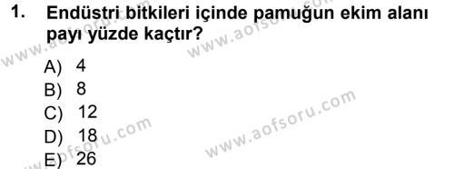 Tarım Bölümü 3. Yarıyıl Tarla Bitkileri II Dersi 2014 Yılı Güz Dönemi Tek Ders Sınavı 1. Soru