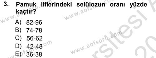 Tarım Bölümü 3. Yarıyıl Tarla Bitkileri II Dersi 2014 Yılı Güz Dönemi Tek Ders Sınavı 3. Soru