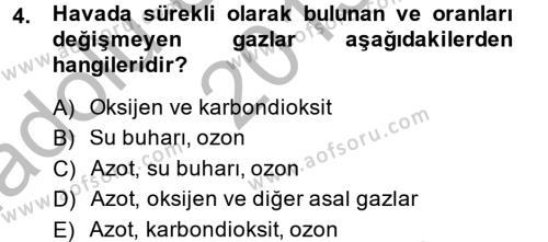 Tarım Bölümü 4. Yarıyıl Peyzaj Çevre ve Tarım Dersi 2014 Yılı Bahar Dönemi Ara Sınavı 4. Soru