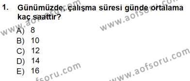 Kültürel Miras ve Turizm Bölümü 3. Yarıyıl Genel Turizm Bilgisi Dersi 2013 Yılı Güz Dönemi Ara Sınavı 1. Soru