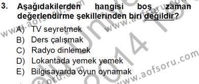 Genel Turizm Bilgisi Dersi 2013 - 2014 Yılı Tek Ders Sınavı 3. Soru