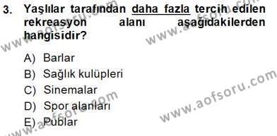 Genel Turizm Bilgisi Dersi 2014 - 2015 Yılı Ara Sınavı 3. Soru