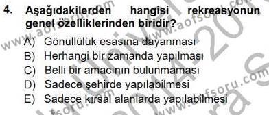 Kültürel Miras ve Turizm Bölümü 3. Yarıyıl Turizm Coğrafyası Dersi 2015 Yılı Güz Dönemi Ara Sınavı 4. Soru