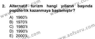 Alternatif Turizm Dersi 2012 - 2013 Yılı Ara Sınavı 2. Soru