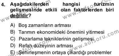 Alternatif Turizm Dersi 2013 - 2014 Yılı (Vize) Ara Sınav Soruları 4. Soru