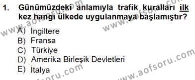 Turizm ve Seyahat Hizmetleri Bölümü 3. Yarıyıl Turizm Ulaştırması Dersi 2013 Yılı Güz Dönemi Ara Sınavı 1. Soru