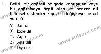 Türk Dili 1 Dersi 2012 - 2013 Yılı Ara Sınavı 4. Soru