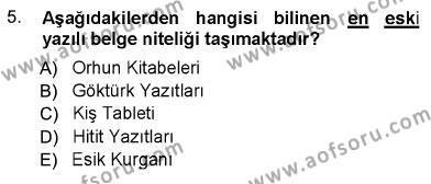Türk Dili 1 Dersi Ara Sınavı Deneme Sınav Soruları 5. Soru