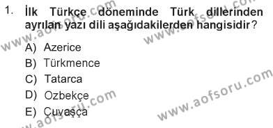 Türk Dili 1 Dersi 2012 - 2013 Yılı Tek Ders Sınavı 1. Soru