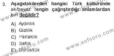 Turizm ve Otel İşletmeciliği Bölümü 3. Yarıyıl Türk Dili I Dersi 2013 Yılı Güz Dönemi Tek Ders Sınavı 3. Soru