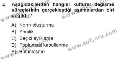 Türk Dili 1 Dersi 2012 - 2013 Yılı Tek Ders Sınavı 4. Soru