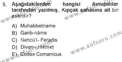 Turizm ve Otel İşletmeciliği Bölümü 3. Yarıyıl Türk Dili I Dersi 2013 Yılı Güz Dönemi Tek Ders Sınavı 5. Soru