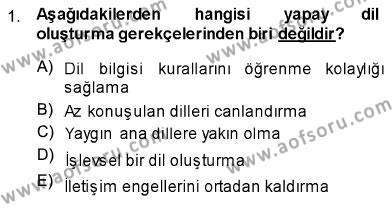 Türk Dili 1 Dersi 2013 - 2014 Yılı Ara Sınavı 1. Soru