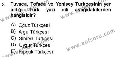 Türk Dili 1 Dersi 2013 - 2014 Yılı Ara Sınavı 3. Soru