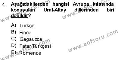 Türk Dili 1 Dersi 2013 - 2014 Yılı Ara Sınavı 4. Soru