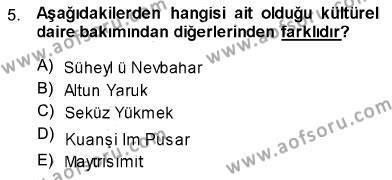 Bankacılık ve Sigortacılık Bölümü 3. Yarıyıl Türk Dili I Dersi 2014 Yılı Güz Dönemi Ara Sınavı 5. Soru