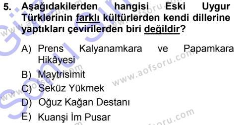 İnsan Kaynakları Yönetimi Bölümü 3. Yarıyıl Türk Dili I Dersi 2014 Yılı Güz Dönemi Dönem Sonu Sınavı 5. Soru