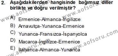 Ev İdaresi Bölümü 3. Yarıyıl Türk Dili I Dersi 2014 Yılı Güz Dönemi Tek Ders Sınavı 2. Soru