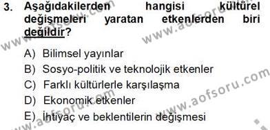 Sosyal Hizmetler Bölümü 3. Yarıyıl Türk Dili I Dersi 2014 Yılı Güz Dönemi Tek Ders Sınavı 3. Soru