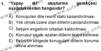 Türk Dili 1 Dersi 2014 - 2015 Yılı Ara Sınavı 1. Soru