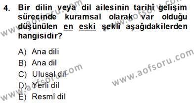 Türk Dili 1 Dersi 2014 - 2015 Yılı Ara Sınavı 4. Soru