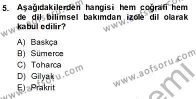 Sosyal Hizmet Bölümü 7. Yarıyıl Türk Dili I Dersi 2015 Yılı Güz Dönemi Ara Sınavı 5. Soru