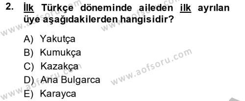 Türk Dili 1 Dersi 2014 - 2015 Yılı Dönem Sonu Sınavı 2. Soru