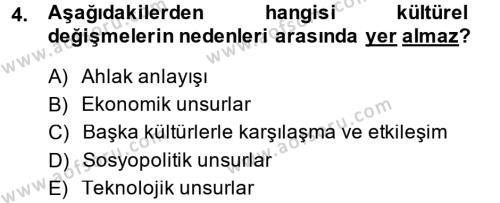 Sosyal Hizmet Bölümü 7. Yarıyıl Türk Dili I Dersi 2015 Yılı Güz Dönemi Dönem Sonu Sınavı 4. Soru