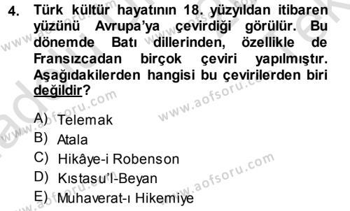 Türk Dili 1 Dersi 2014 - 2015 Yılı Tek Ders Sınav Soruları 4. Soru
