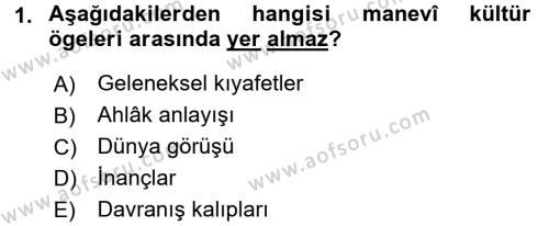 Türk Dili 1 Dersi 2015 - 2016 Yılı Tek Ders Sınavı 1. Soru