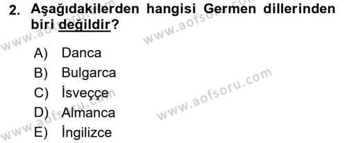 Türk Dili 1 Dersi 2016 - 2017 Yılı (Vize) Ara Sınav Soruları 2. Soru