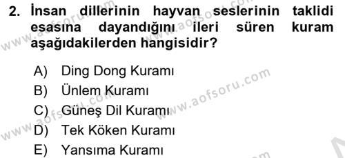 Türk Dili 1 Dersi 2017 - 2018 Yılı (Vize) Ara Sınav Soruları 2. Soru