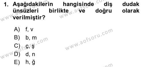 Türk Dili 1 Dersi 2018 - 2019 Yılı (Final) Dönem Sonu Sınav Soruları 1. Soru