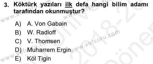 Türk Dili 1 Dersi 2018 - 2019 Yılı (Final) Dönem Sonu Sınav Soruları 3. Soru