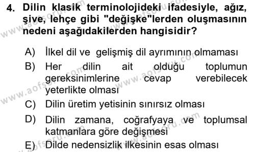 Türk Dili 1 Dersi 2018 - 2019 Yılı (Final) Dönem Sonu Sınav Soruları 4. Soru