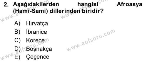 Türk Dili 1 Dersi 2018 - 2019 Yılı Yaz Okulu Sınavı 2. Soru