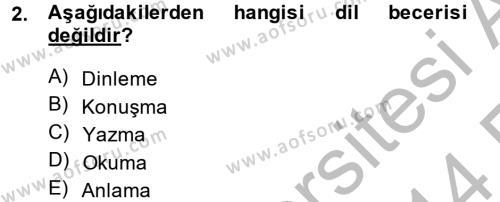 Tarih Bölümü 8. Yarıyıl Türk Dili II Dersi 2014 Yılı Bahar Dönemi Ara Sınavı 2. Soru