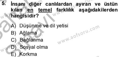 Yaşlı Bakımı Bölümü 4. Yarıyıl Türk Dili II Dersi 2014 Yılı Bahar Dönemi Ara Sınavı 5. Soru