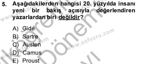 Dış Ticaret Bölümü 4. Yarıyıl Türk Dili II Dersi 2014 Yılı Bahar Dönemi Dönem Sonu Sınavı 5. Soru