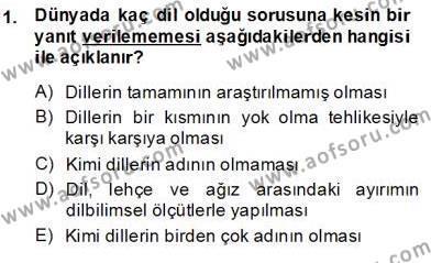 Türkçe Sözlü Anlatım Dersi 2013 - 2014 Yılı Ara Sınavı 1. Soru