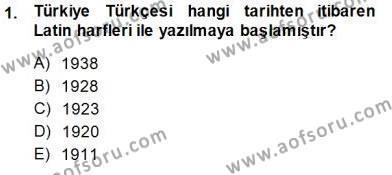 İngilizce Öğretmenliği Bölümü 3. Yarıyıl Türkçe Sözlü Anlatım Dersi 2015 Yılı Güz Dönemi Ara Sınavı 1. Soru